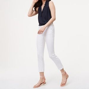 NWOT LOFT Modern Skinny Crop white Jeans size 24